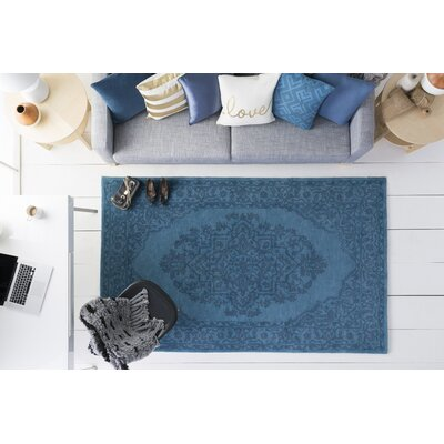 Farner Hand-Tufted Turquoise Area Rug Rug Size: Rectangle 4 x 6