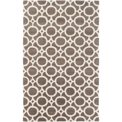 Murrow Hand-Tufted Gray/Ivory Area Rug Rug Size: Rectangle 5' x 8'