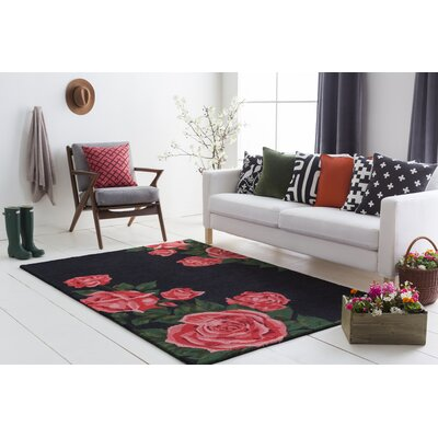 Lacasse Hand-Tufted Red Area Rug Rug Size: Rectangle 9 x 13