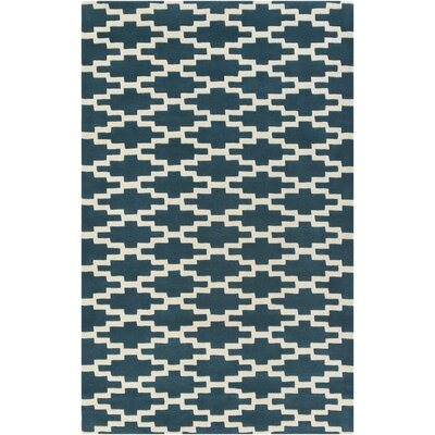 Lococo Hand-Tufted Royal Blue/Beige Area Rug Rug Size: Rectangle 5 x 8