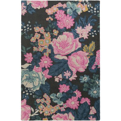 Ladner Hand Tufted Wool Pink/Blue Area Rug Rug Size: Rectangle 5 x 76