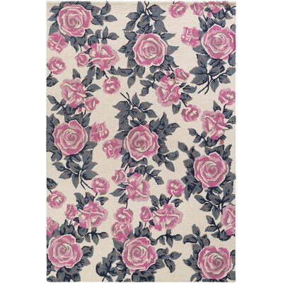 Lach Hand-Tufted Pink Area Rug Rug Size: Rectangle 5 x 76