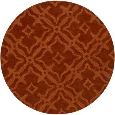 Dutchess Handmade Rust Area Rug Rug Size: Round 6