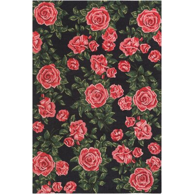 Lach Tufted Red Area Rug Rug Size: Rectangle 4 x 6