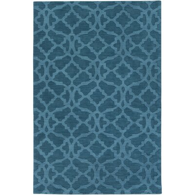 Dylan Hand-Woven Electric Blue Area Rug Rug Size: Rectangle 10 x 14