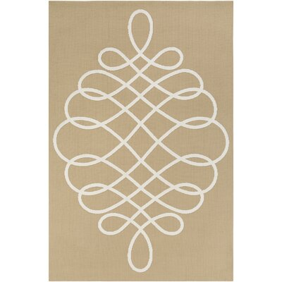 Kersten Straw/Ivory Area Rug Rug Size: Rectangle 76 x 96