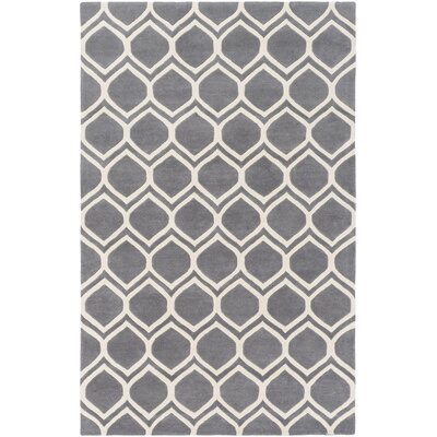 Zellner Hand-Tufted Gray/Beige Area Rug Rug Size: Rectangle 9 x 13