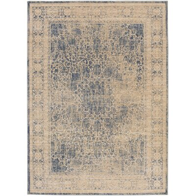 Whitman Kinsley Blue Area Rug Rug Size: 53 x 73