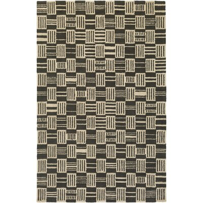Judd Hand-Tufted Black/Beige Area Rug Rug Size: Rectangle 76 x 96