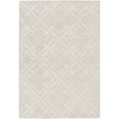 Dutchess Handmade Ivory Area Rug Rug Size: Rectangle 4 x 6