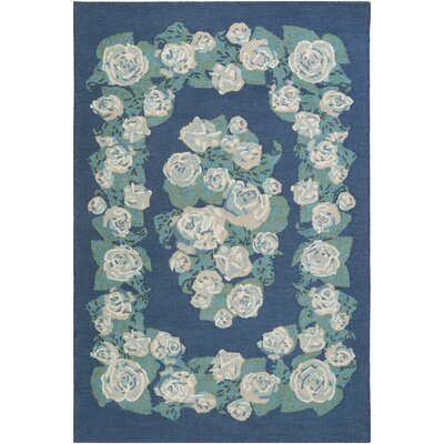 Lackey Hand-Tufted Blue Area Rug Rug Size: Rectangle 5 x 76