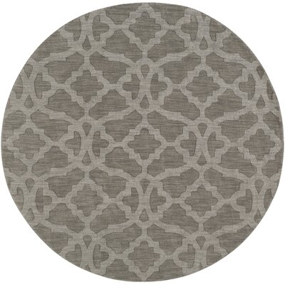 Dylan Hand-Loomed Gray Area Rug Rug Size: Round 79