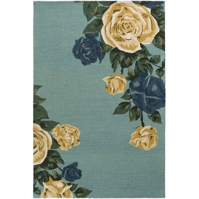 Lacasse Hand-Tufted Mint Area Rug Rug Size: Rectangle 9 x 13