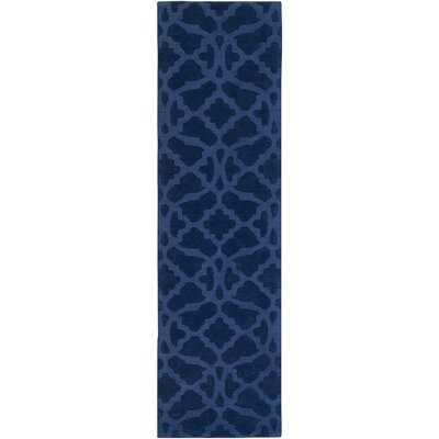 Hennings Handmade Navy Blue Area Rug Rug Size: Runner 23 x 14