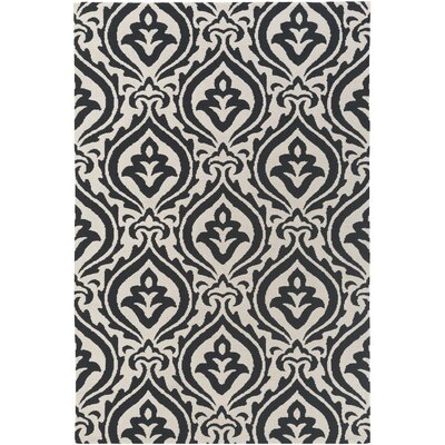 Lachapelle Black/Ivory Area Rug Rug Size: Rectangle 5 x 76