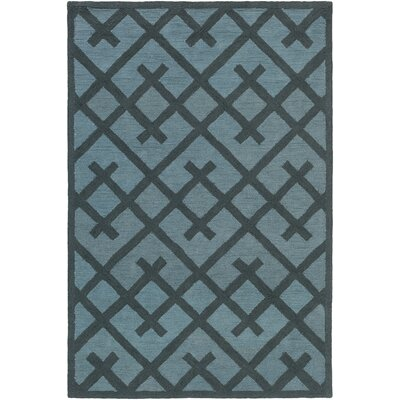 Congo Adrienne Hand-Tufted Navy/Light Blue Area Rug Rug Size: 76 x 96