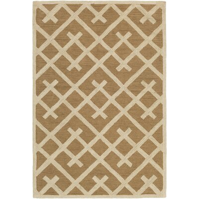 Wycoff Hand-Tufted Taupe/Beige Area Rug Rug Size: Rectangle 2 x 3