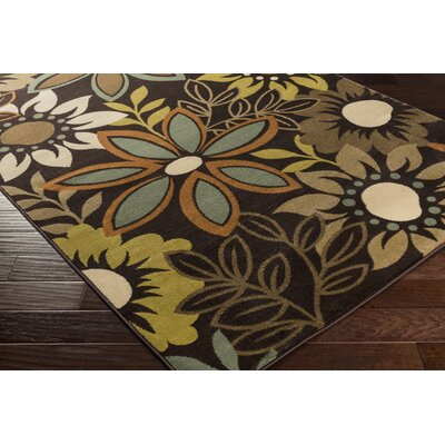 Crete Astrid Brown Area Rug Rug Size: Runner 2'3