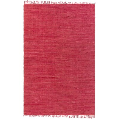 Destefano Hand Woven Cotton Red Area Rug Rug Size: 59 x 89