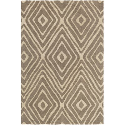 Juhasz Hand-Tufted Taupe/Beige Area Rug Rug Size: Rectangle 76 x 96