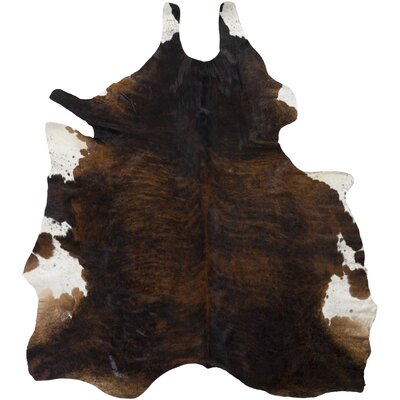 Pires Hand-Woven Cowhide Black/Camel Area Rug