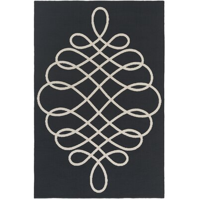 Kersten Black/Beige Area Rug Rug Size: Rectangle 76 x 96