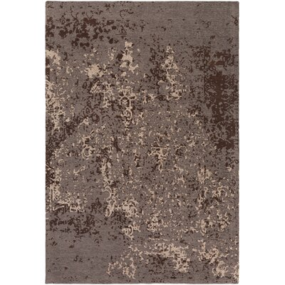 Detrick Gray/Brown Area Rug Rug Size: Rectangle 5 x 76