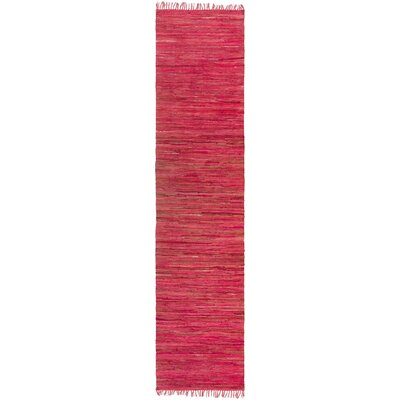 Destefano Hand Woven Cotton Red Area Rug Rug Size: Runner 23 x 12