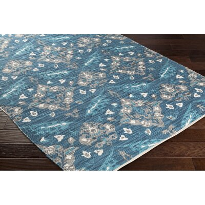 Dever Hand-Woven Blue Area Rug Rug Size: Runner 2 x 8