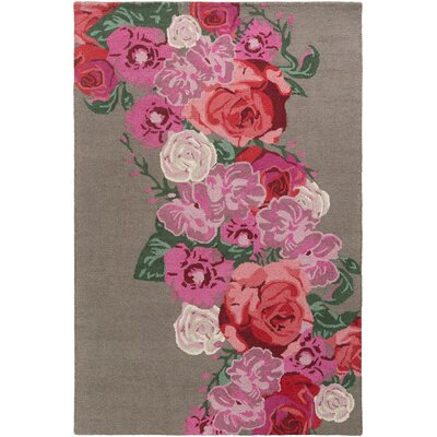 Lacoste Hand Tufted Wool Pink Area Rug Rug Size: Rectangle 5 x 76
