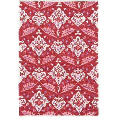 Dever Hand-Woven Red Area Rug Rug Size: Rectangle 5 x 76