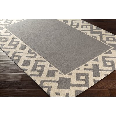Judkins Hand-Tufted Gray/Beige Area Rug Rug Size: Rectangle 5' x 7'6