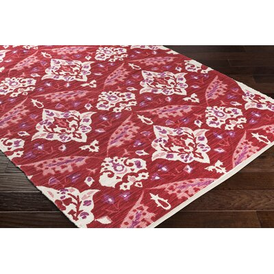 Dever Hand-Woven Red Area Rug Rug Size: Runner 2 x 8