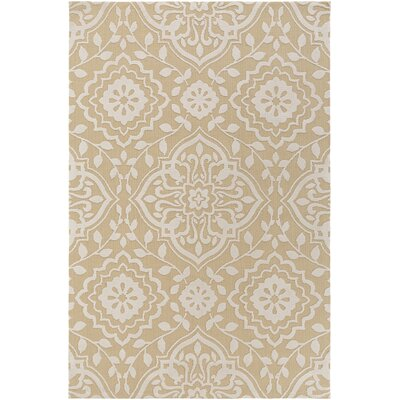 Kesler Straw/Ivory Area Rug Rug Size: Rectangle 5 x 76