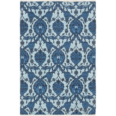 Detwiler Hand-Woven Blue Area Rug Rug Size: Rectangle 5 x 76