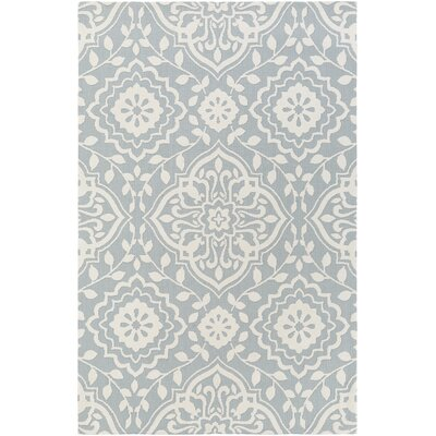 Kesler Mint/Ivory Area Rug Rug Size: Rectangle 5 x 76