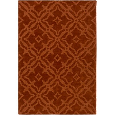 Dutchess Handmade Rust Area Rug Rug Size: Rectangle 4 x 6