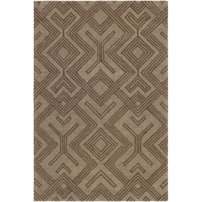 Litwin Hand-Tufted Chocolate/Brown Area Rug Rug Size: Rectangle 5 x 76