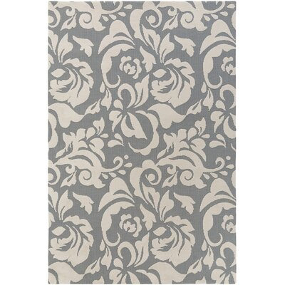 Ducote Gray/Ivory Area Rug Rug Size: Rectangle 8 x 11