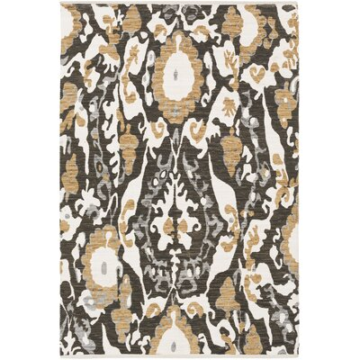Juarez Hand-Woven Brown Area Rug Rug Size: Rectangle 4 x 6