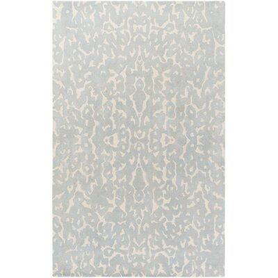 Geology Addison Hand-Tufted Light Gray Area Rug Rug Size: 4 x 6