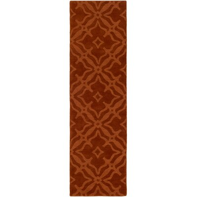 Dutchess Handmade Rust Area Rug Rug Size: Runner 23 x 14