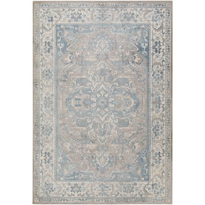 Kestner Blue Area Rug Rug Size: Rectangle 89 x 123