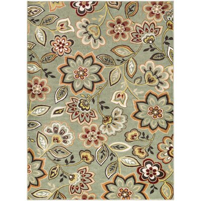 Wydra Green Area Rug Rug Size: Rectangle 2 x 3