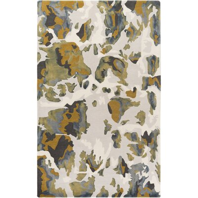 Ginsburg Hand-Tufted Yellow Area Rug Rug Size: Rectangle 5 x 8
