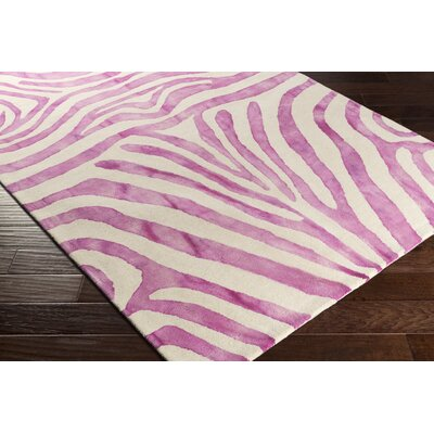 Petunia Hand-Tufted Wool Pink Area Rug Rug Size: Rectangle 9 x 13