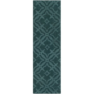 Dutchess Handmade Teal Area Rug Rug Size: Runner 23 x 14