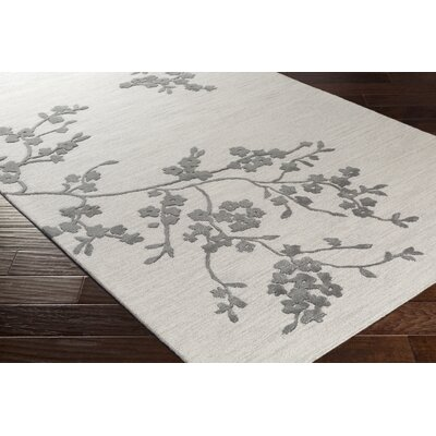 Kiely Hand-Tufted Light Gray/Charcoal Area Rug Rug Size: Rectangle 4 x 6