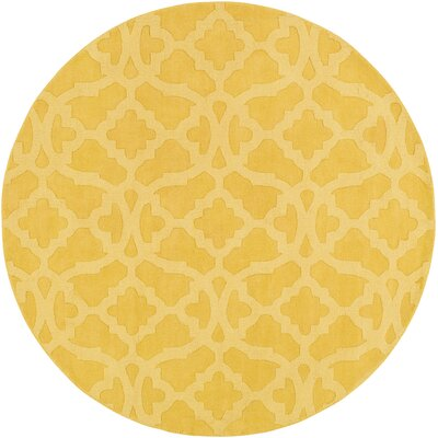Dylan Hand-Woven Yellow Area Rug Rug Size: Round 99
