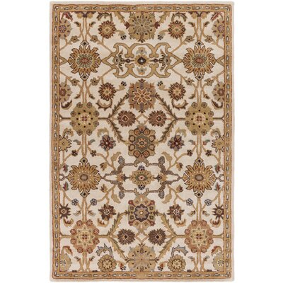 Philson Hand-Tufted Tan/Gray Area Rug Rug Size: Rectangle 76 x 96